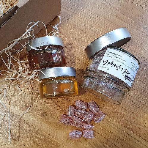 Capsa regal: mel i caramels