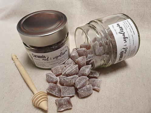 Caramels de mel i regalèssia