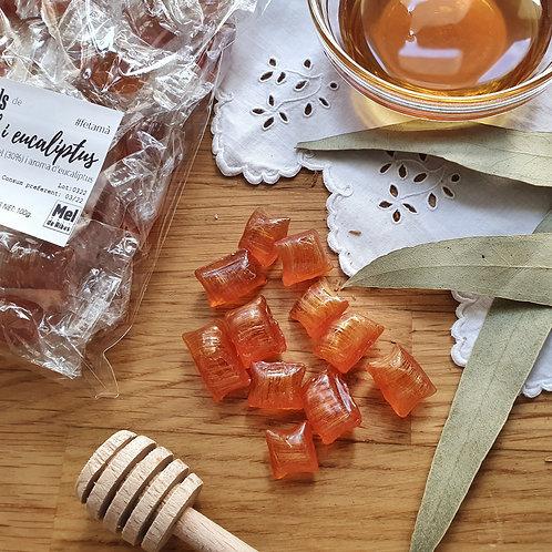 Caramels de mel i eucaliptus