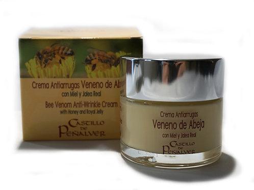 Crema amb verí d'abella, mel i gelea real. 60ml