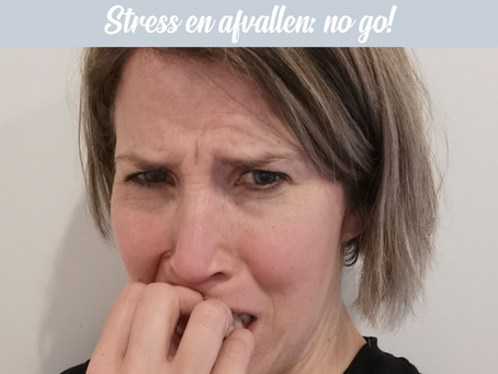 Stress en afvallen...no go!