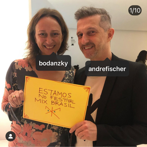Lais Bodanzky e André Fischer no Festival Mix Brasil