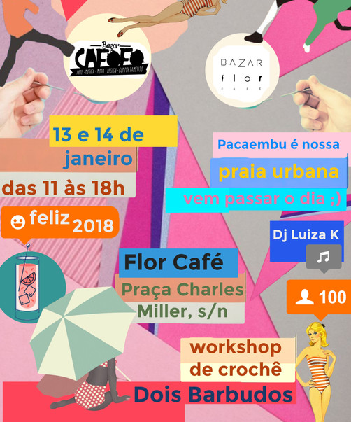 flyer edição janeiro do Bazar Flor Café