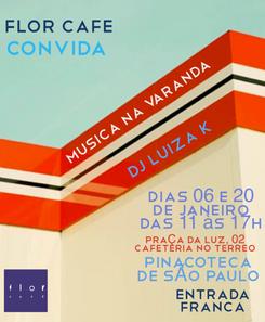 flyer para o Flor Café Pinacoteca