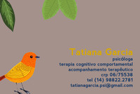 cartão de visita da psicóloga