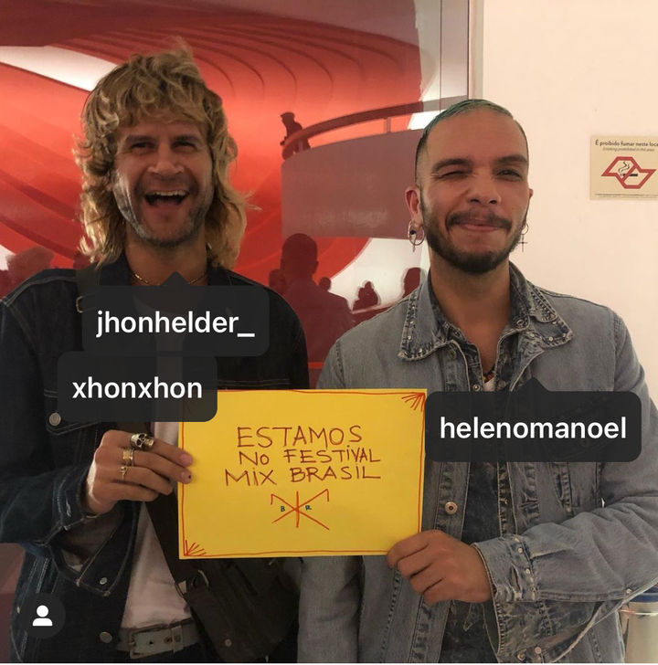 Jhon Jhon e Heleno Manoel no Festival Mix Brasil