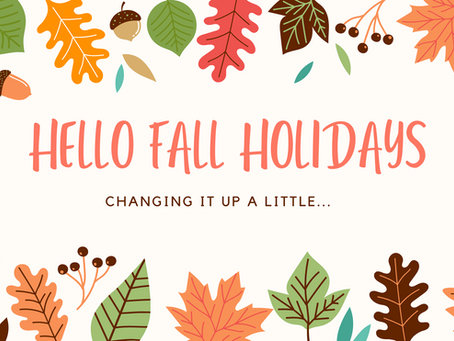 FALL HOLIDAYS AND BOOKS