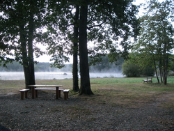 Repos en bord d'étang