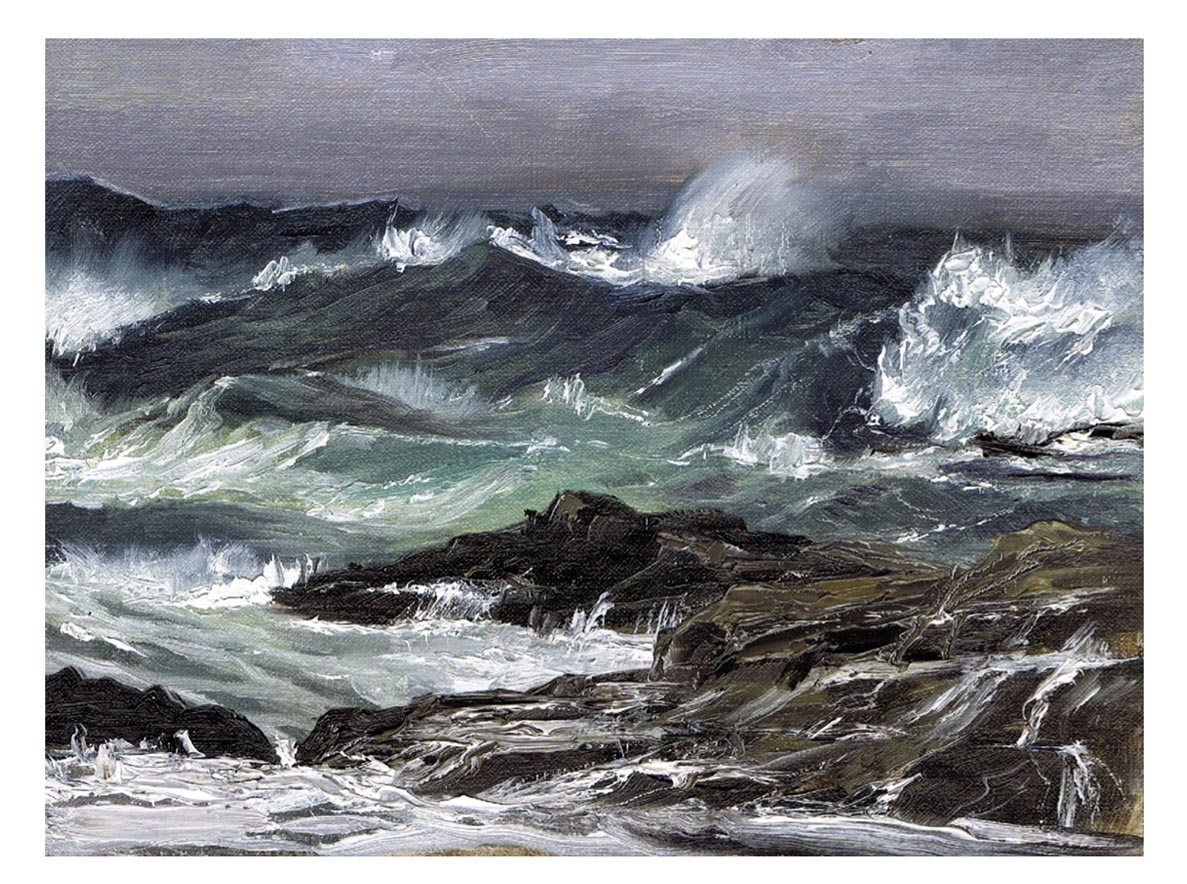 Rough Seas - Oil on Linen