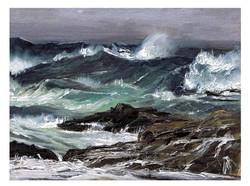 Rough Seas - Oil on Linen