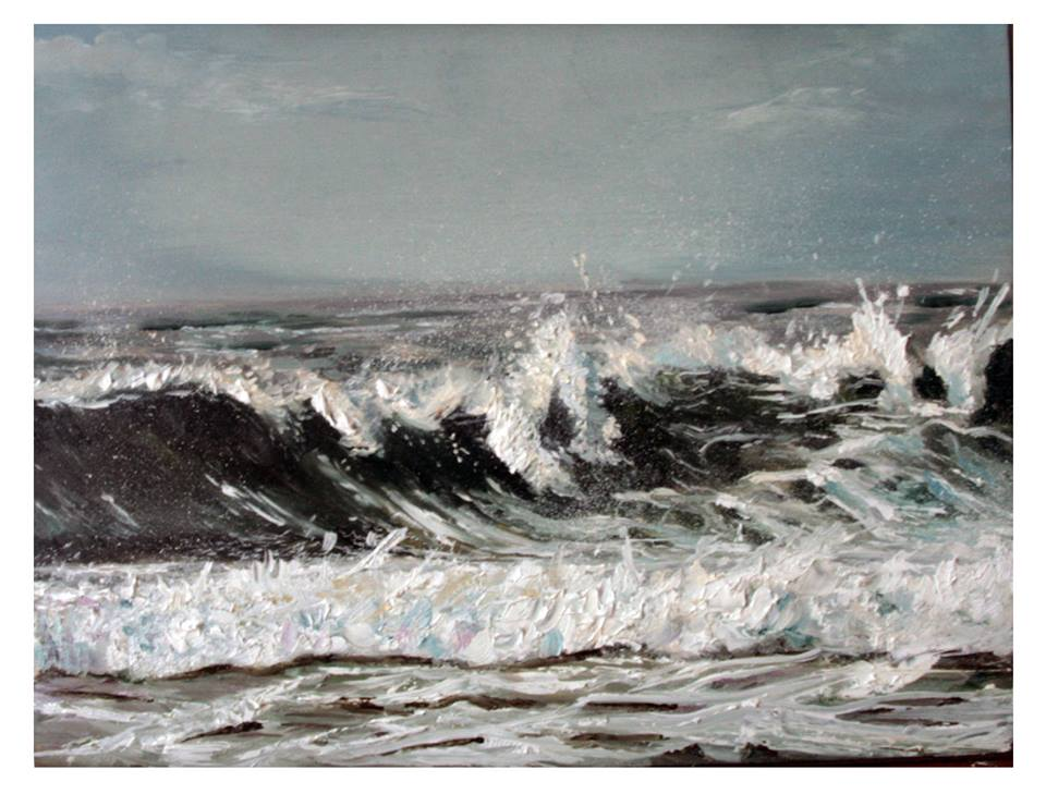 Little Sea Study - Oil on linen