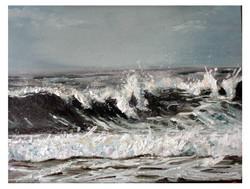 Little Sea Study - Oil on linen