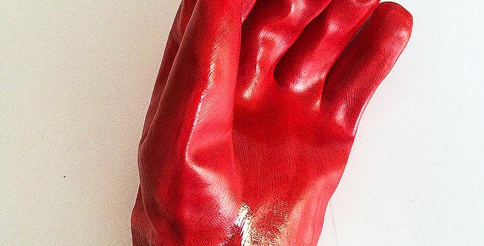 Перчатки х/б трикотажные, покрытые нитрилом, полный облив