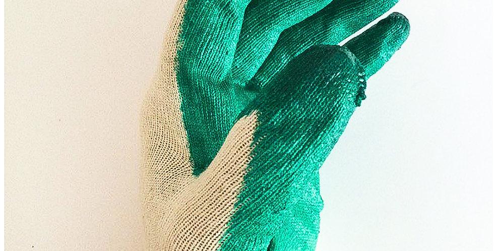Перчатки с одинарным латексным покрытием