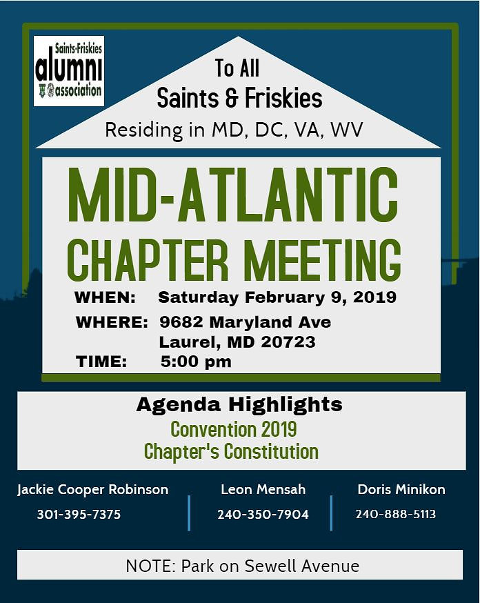Mid-Atlantic Chapter Meeting Flyer 2-9-2