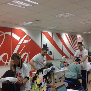 BizPliz corporate massage @ CocaCola Hellenic