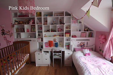 Girls bedroom, girls bedroom storage, bedroom shelves