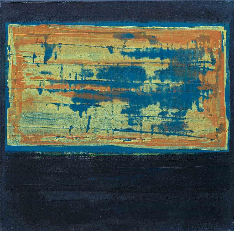 Sédiment, rouille, matière, acrylique sur toile, art contemporain