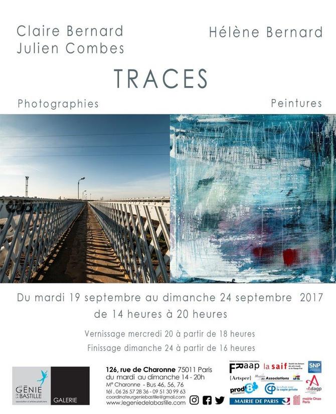 TRACES - Une exposition commune avec Julien Combes et Claire Bernard photographes.