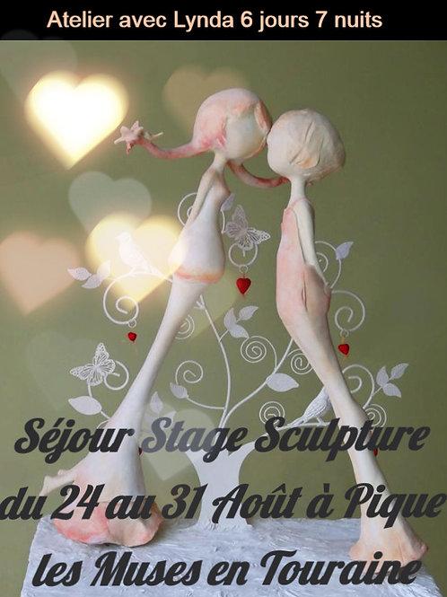 Séjour Atelier Sculpture avec Lynda du 24 au 31 Août