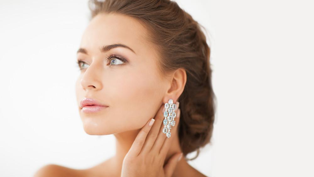 orecchini in oro bianco, frigerio gioielli, laboratorio orafo