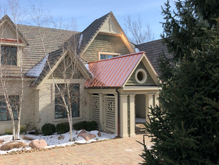 New Concrete Tile Roof with Standing Seam Copper Accent Roof. Lake Quivira Kansas