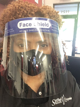 PPE in hair salon