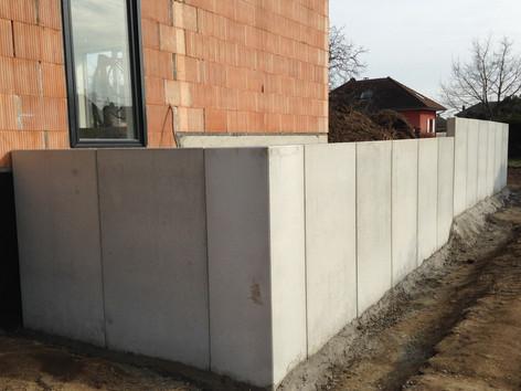 Mur en L wittenheim