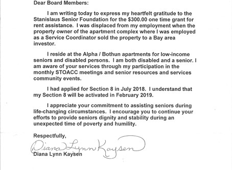 A Letter of Thanks