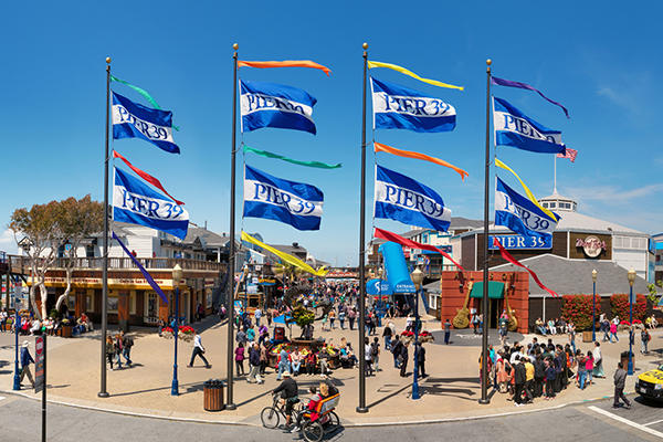 Entrance Plaza to Pier 39, tickets to attractions