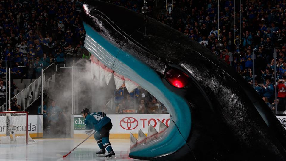 San Jose Sharks tickets at center ice.