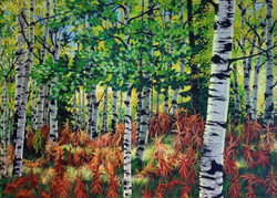POPLARS AND PAINTBRUSHES