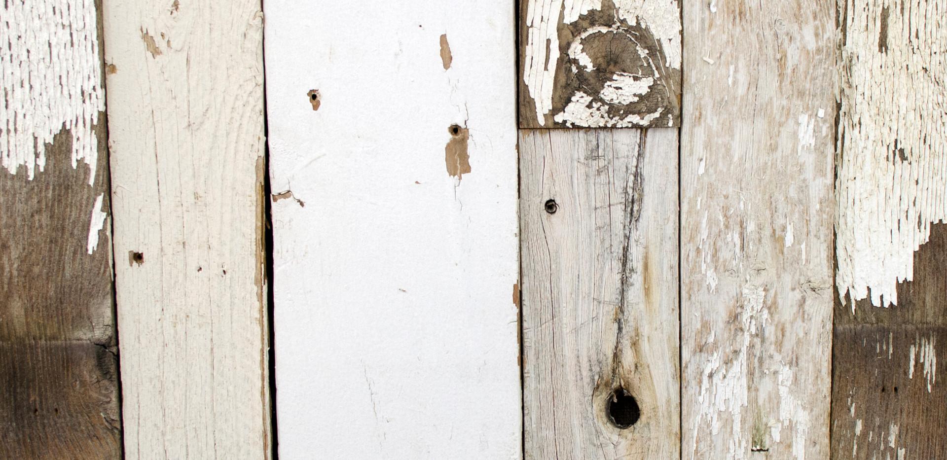 Faded White Urban Wood