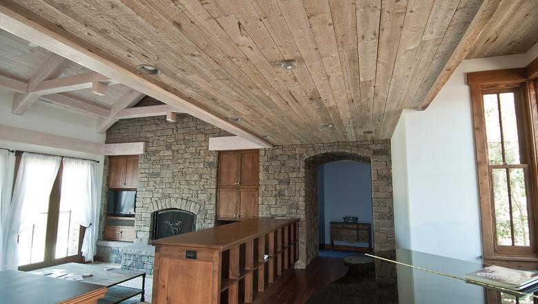 Rescued Plank Gray _ ceiling