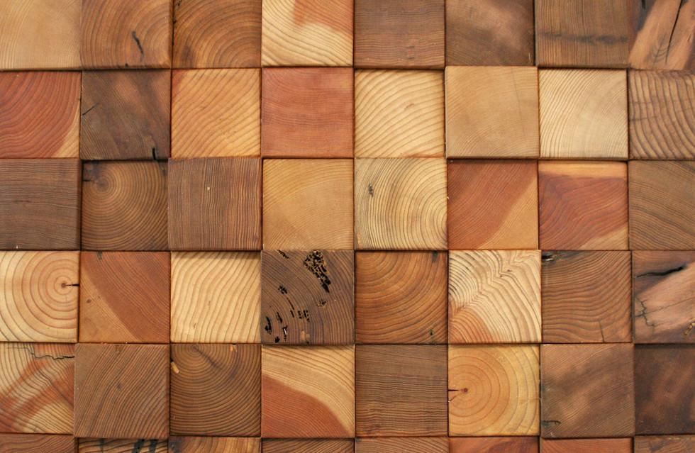 Remilled Cedar End Grain Tiles