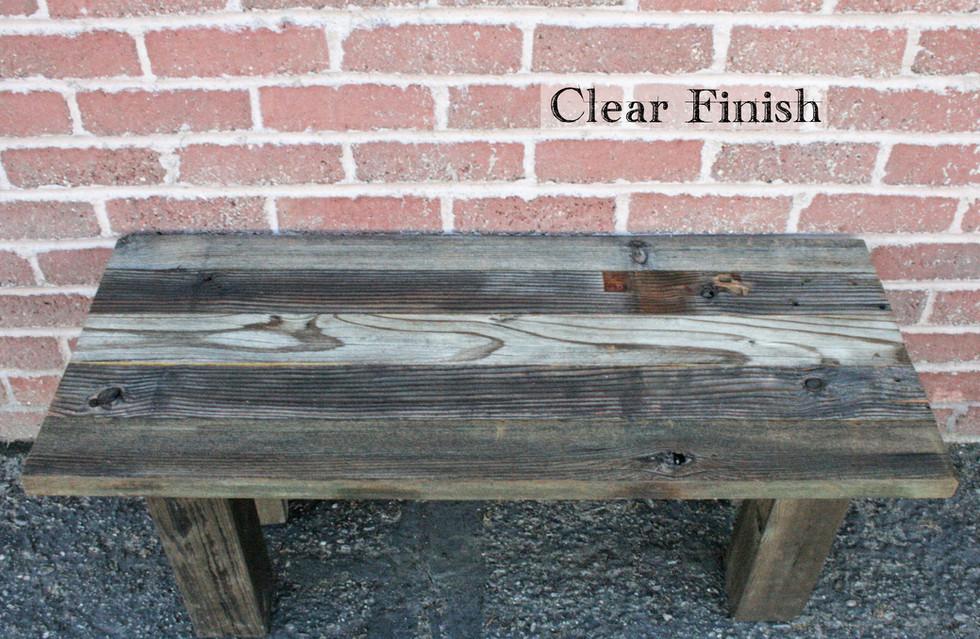 Barn Wood Shelf with Clear Finish