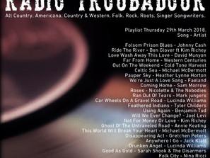 John Godfrey's Radio Troubadour #2 Playlist
