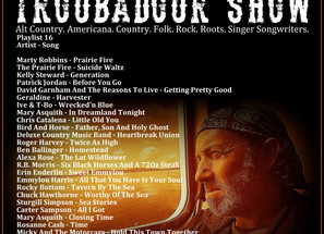 John Godfrey's Troubadour Show #16 Playlist