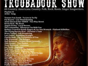 John Godfrey's Troubadour Show #3 Playlist