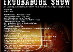 John Godfrey's Troubadour Show #13 Playlist