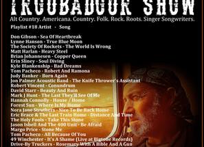 John Godfrey's Troubadour Show #18 Playlist