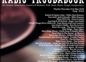 John Godfrey's Radio Troubadour #8 Playlist