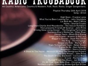 John Godfrey's Radio Troubadour #5 Playlist