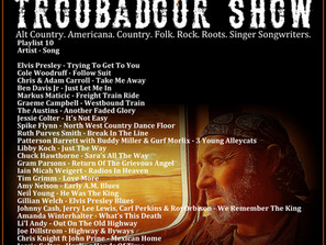 John Godfrey's Troubadour Show #10 Playlist