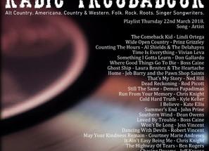 John Godfrey's Radio Troubadour #1 Playlist