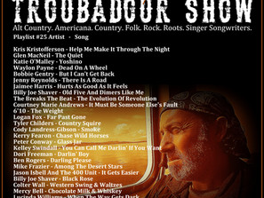 John Godfrey's Troubadour Show #25 Playlist