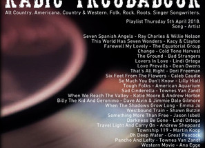 John Godfrey's Radio Troubadour #3 Playlist