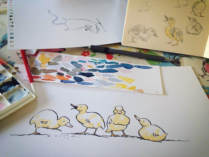 Ducklings on my desk