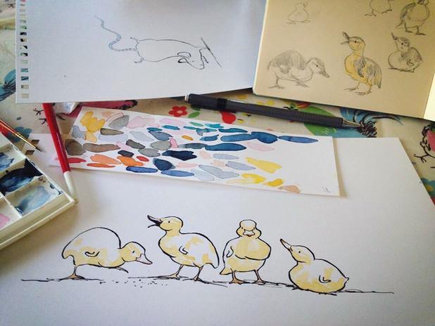 Ducklings on my desk