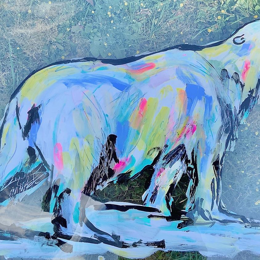XMAS Window Art on Acetate - POLAR BEAR